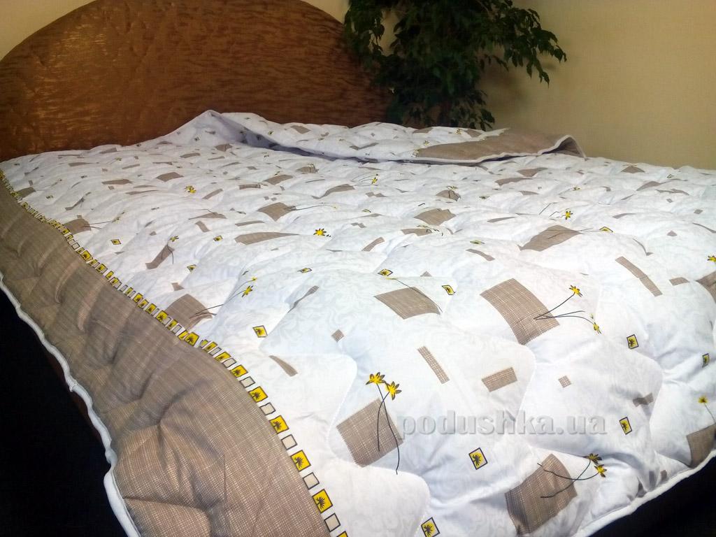 Одеяло демисезонное антиаллергенное в бязи Билана Геометрия на белом
