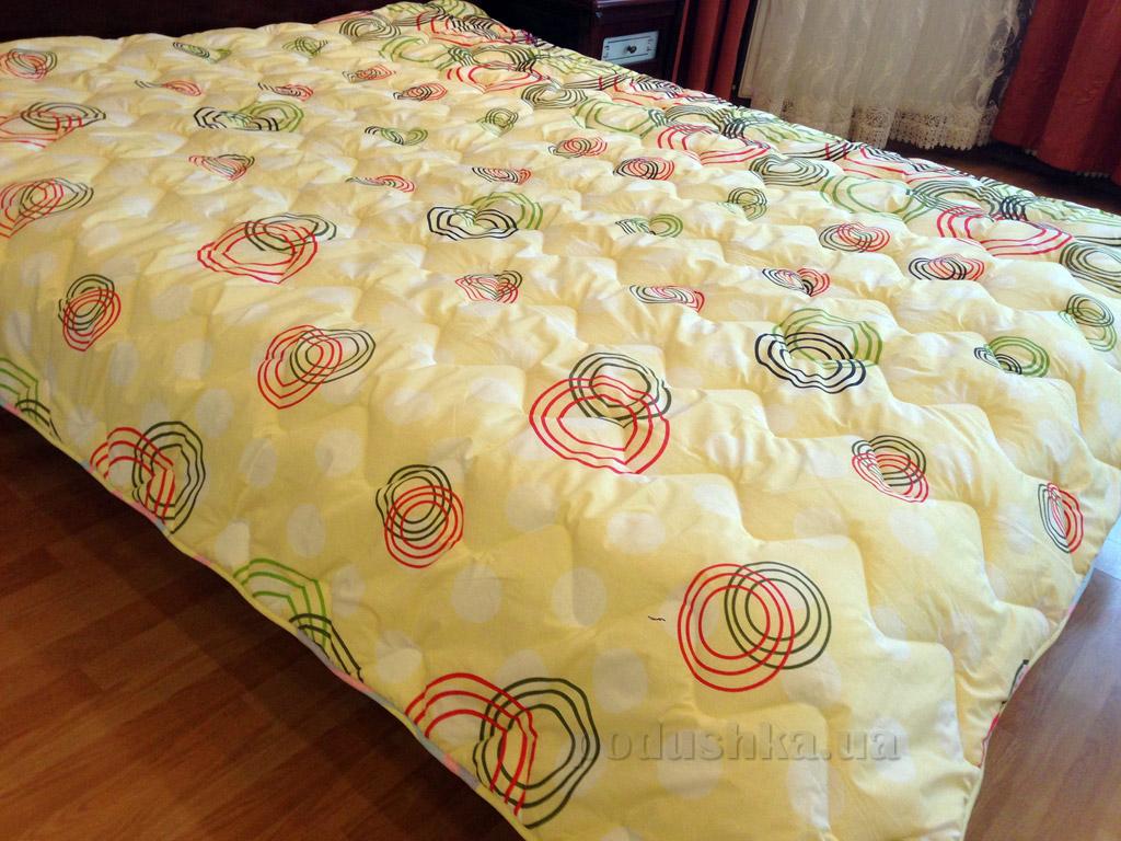 Одеяло демисезонное антиаллергенное в бязи Билана Кружочки на желтом