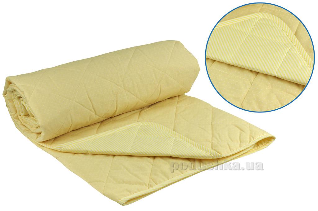 Одеяло детское летнее хлопковое Руно Мишка желтое