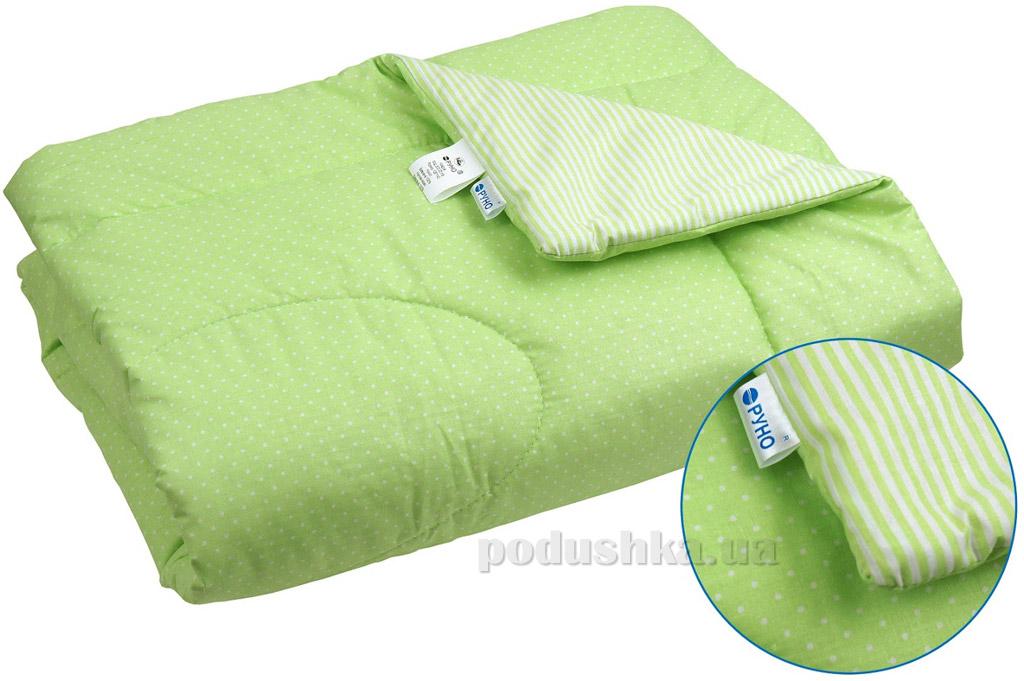 Одеяло детское летнее хлопковое Руно салатовое 105х140 см  Руно