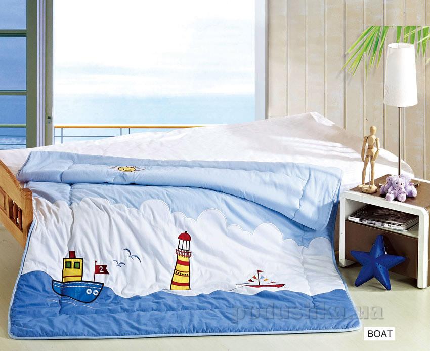 Одеяло детское с вышивкой Arya Boat