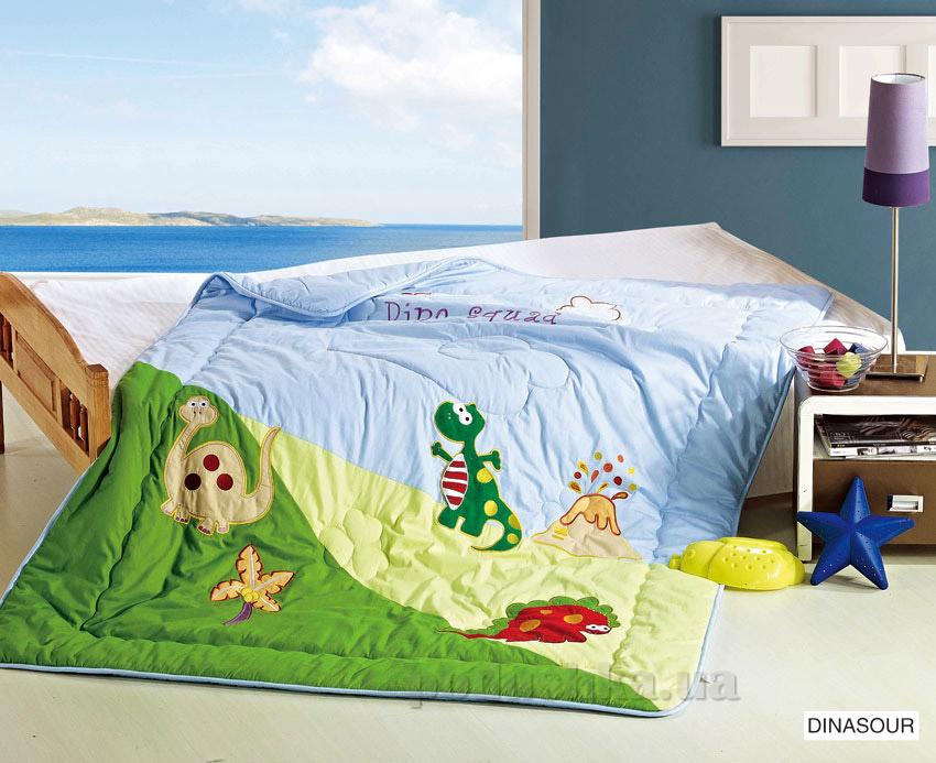 Одеяло детское с вышивкой Arya Dinasour