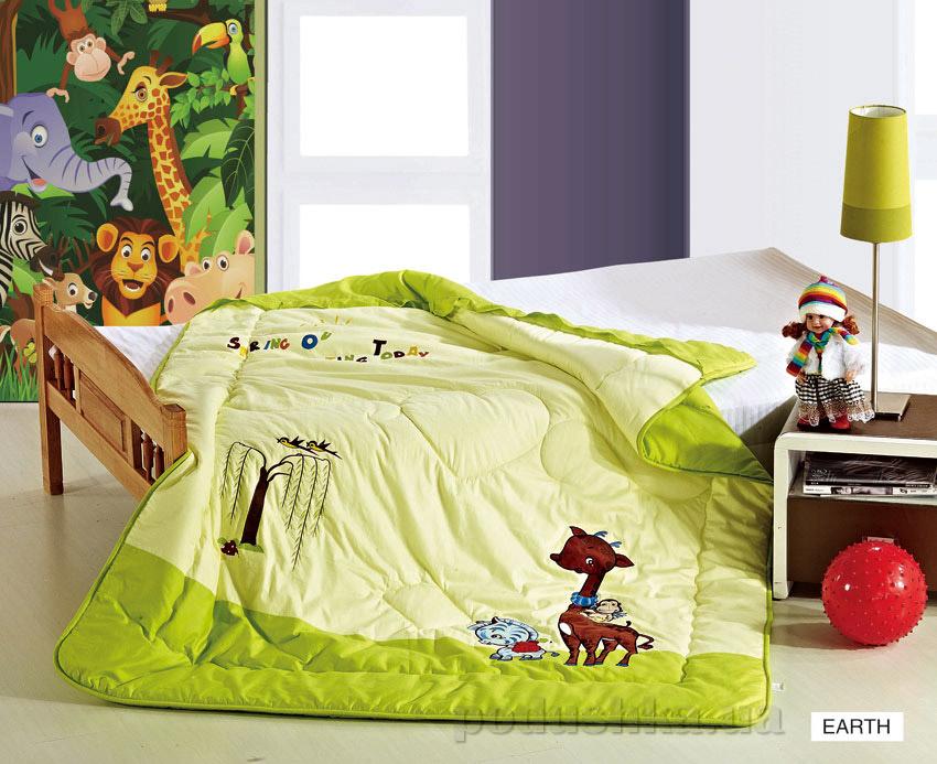 Одеяло детское с вышивкой Arya Earth