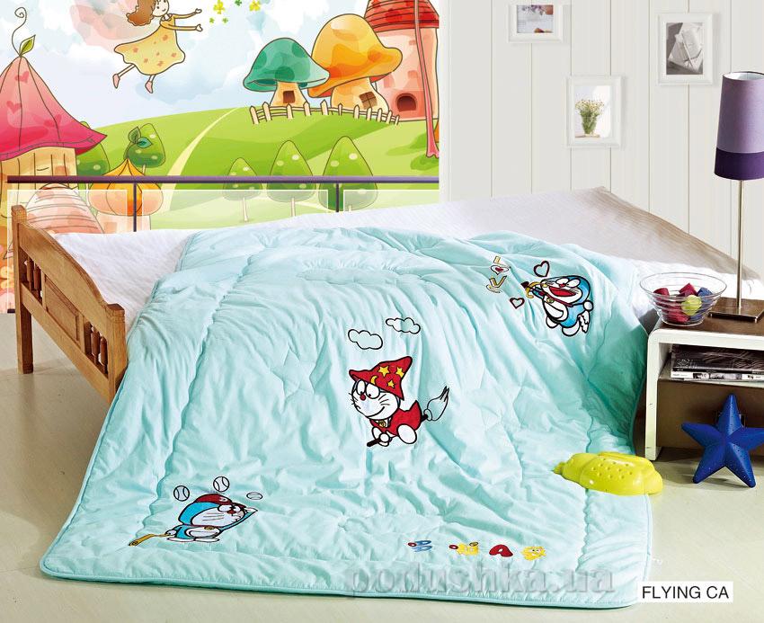 Одеяло детское с вышивкой Arya Flying cat