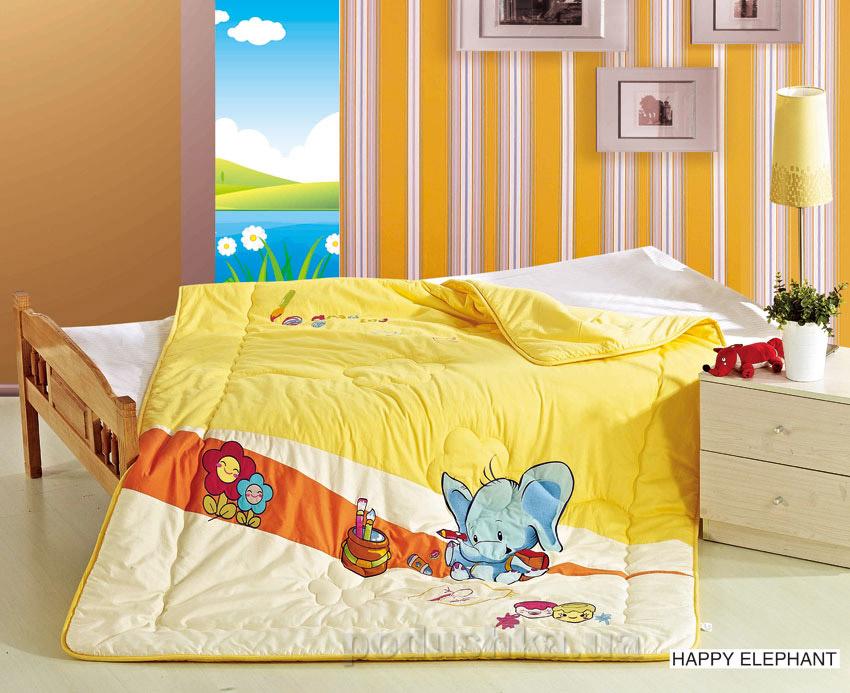 Одеяло детское с вышивкой Arya Happy elephant