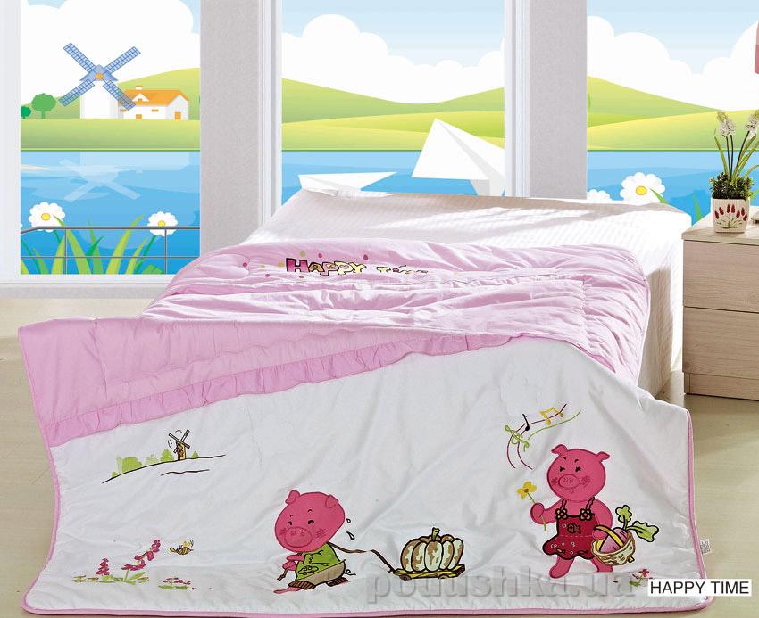 Одеяло детское с вышивкой Arya Happy time