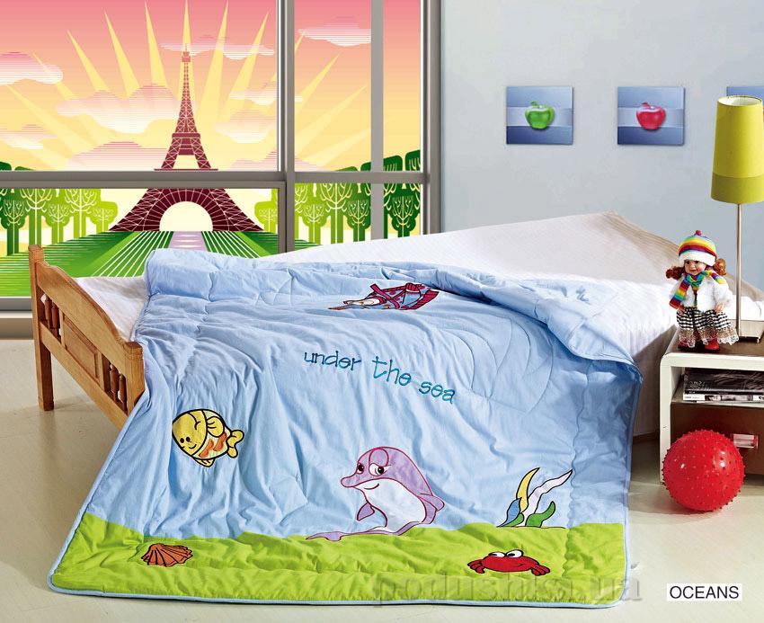 Одеяло детское с вышивкой Arya Oceans