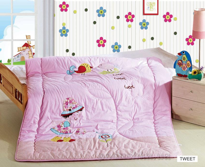 Одеяло детское с вышивкой Arya Tweet