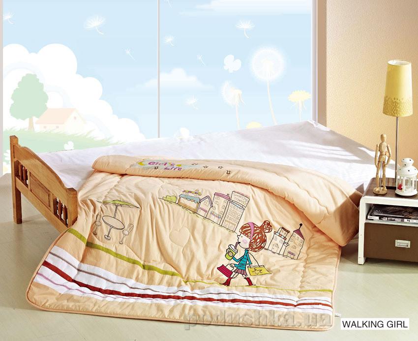 Одеяло детское с вышивкой Arya Walking girl