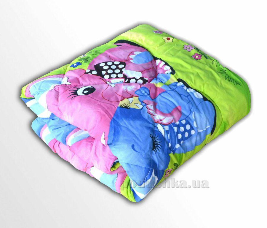 Одеяло детское шерстяное ТЕП 537 Слоники