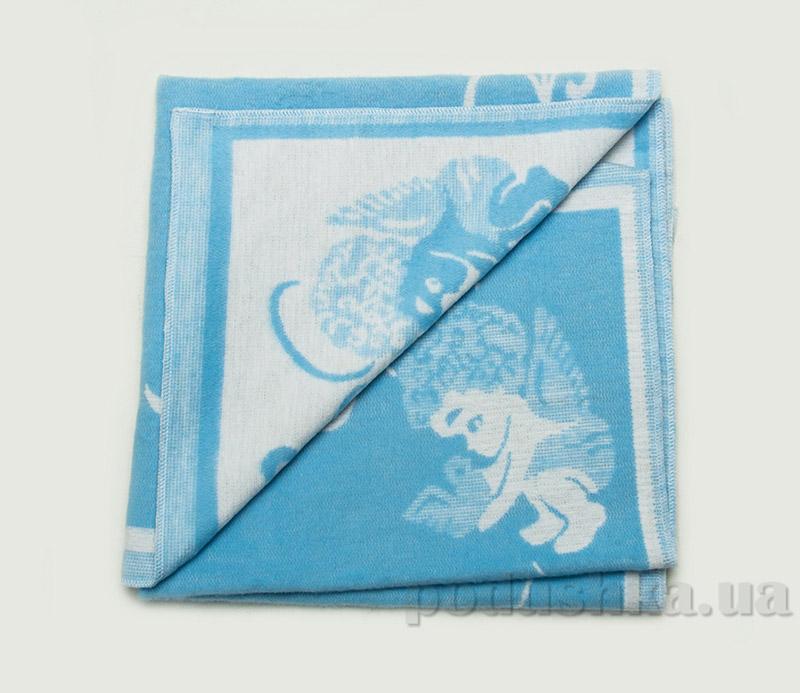 Одеяло детское WOT Ангелочки светло-голубое