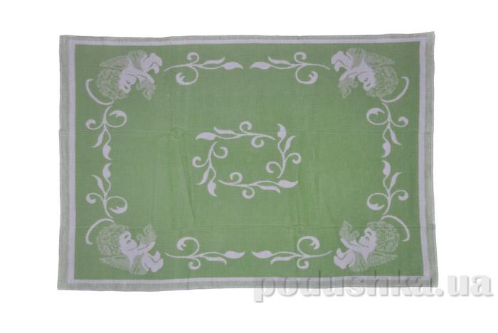 Одеяло детское WOT Ангелочки зеленое