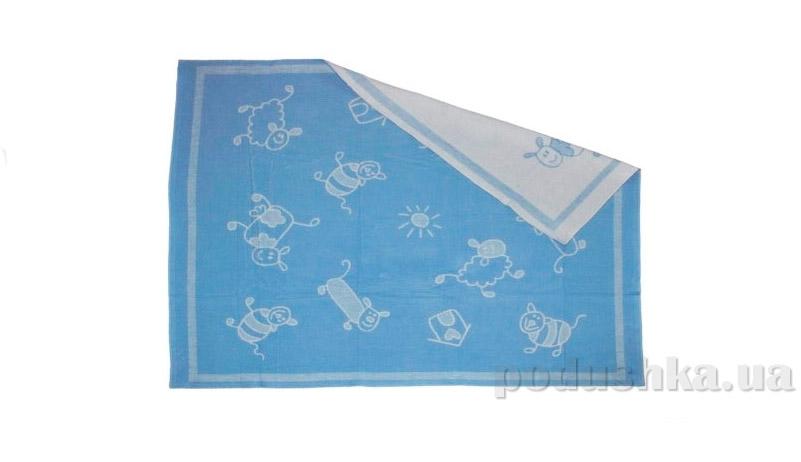 Одеяло детское WOT Хоровод светло-голубое