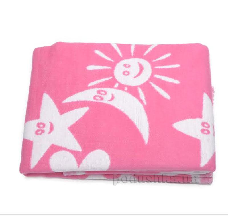 Одеяло детское WOT Луна светло-розовое