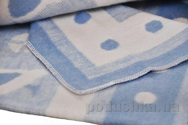Одеяло детское WOT Птицы голубое