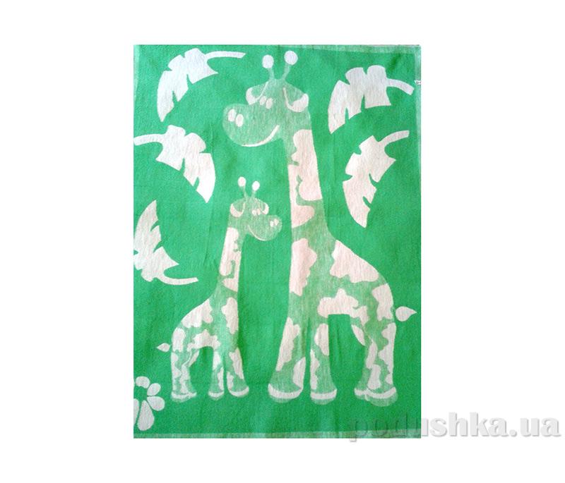 Одеяло детское WOT Жирафики зеленое