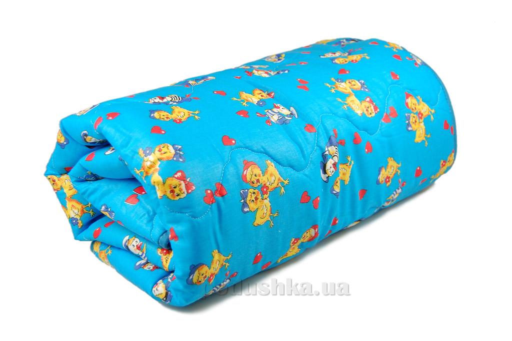 Одеяло детское зимнее силиконовое Home Line голубое