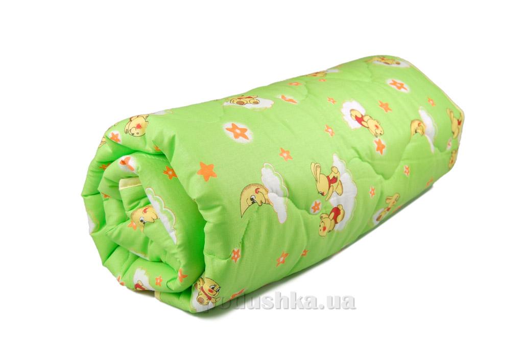 Одеяло детское зимнее силиконовое Home Line зелёное