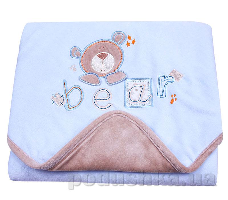 Одеяло Медвежонок утепленное 77x77 велюр Volypok V9186/BL-1