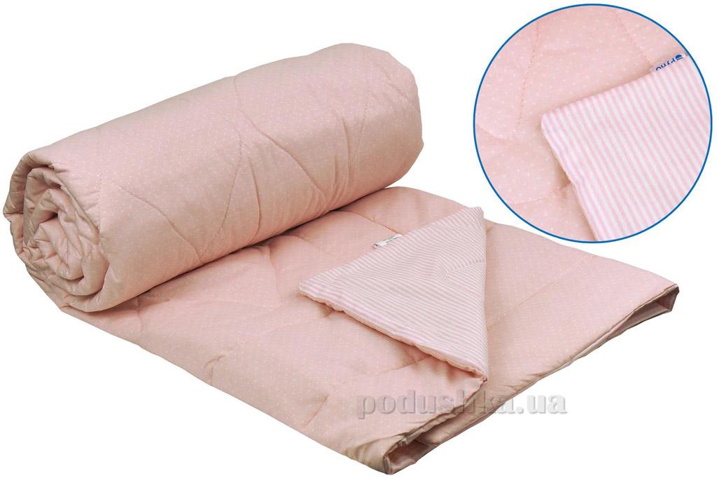 Одеяло Руно летнее хлопковое в бязи розовое 155х210 см  Руно