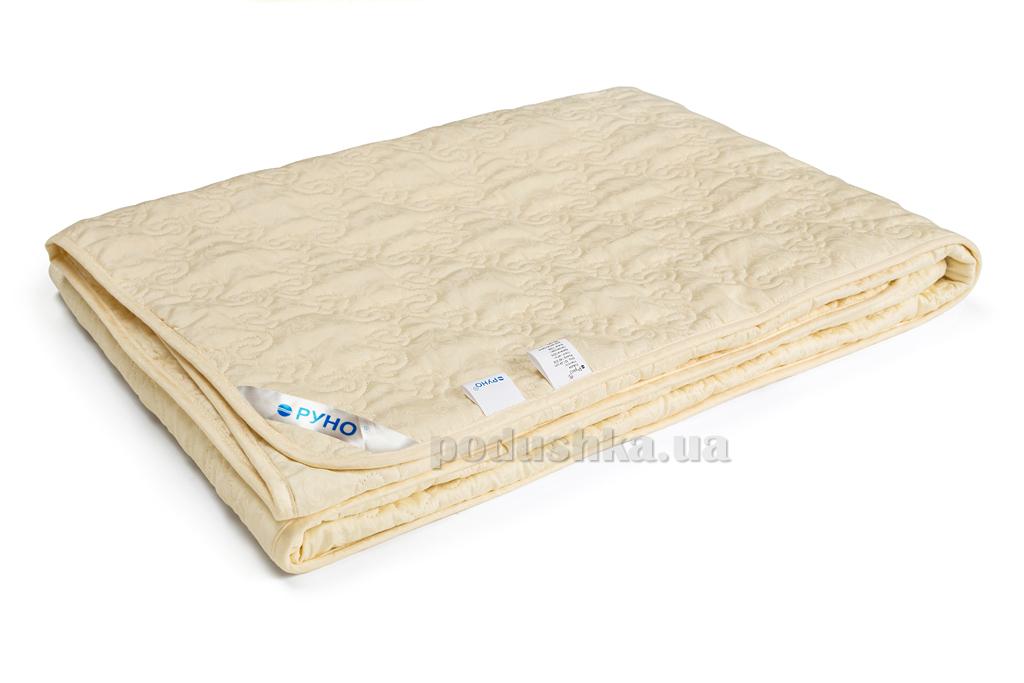 Одеяло Руно Нежность демисезонное шерстяное в тике 155х210 см молочный Руно