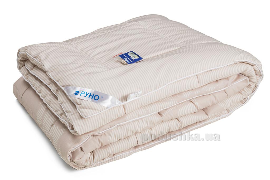 Одеяло Руно зимнее шерстяное в сатине с принтом