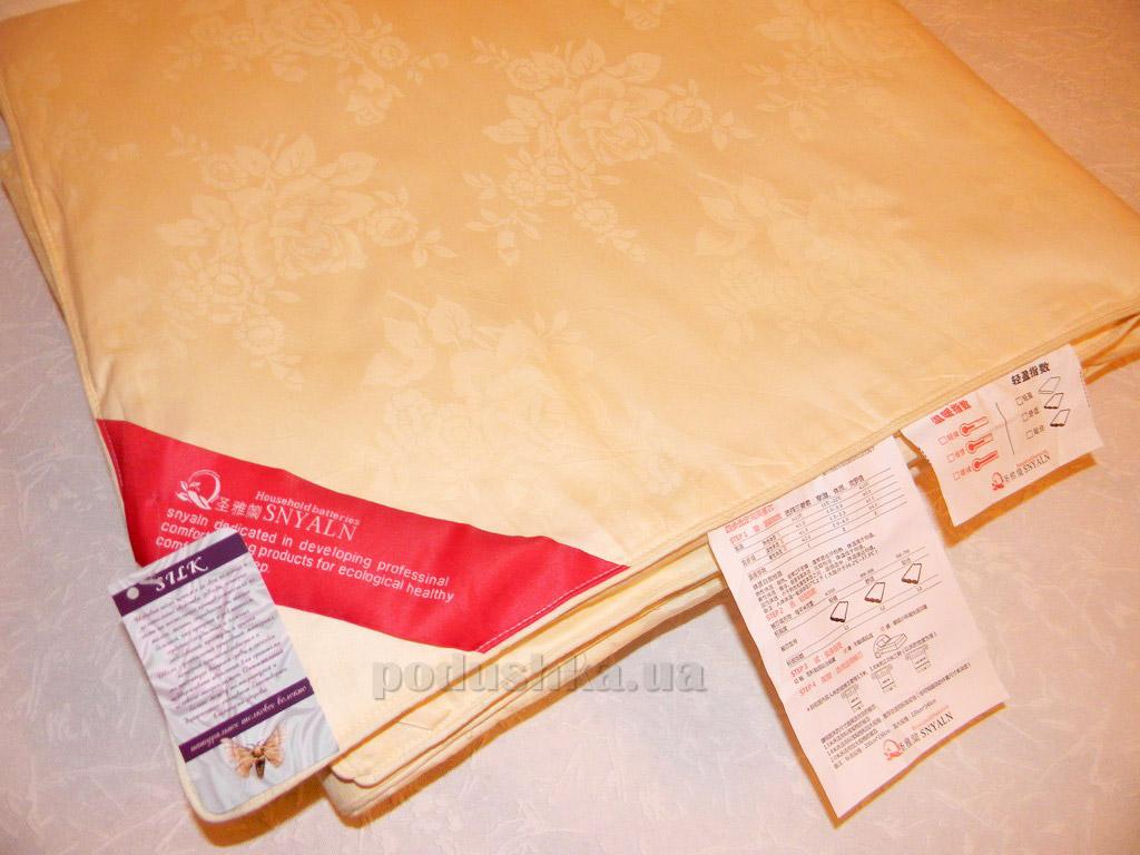 Одеяло шелковое Goldentex OD-462-2 молочное 150х200 см вес 1500 г GoldenTex