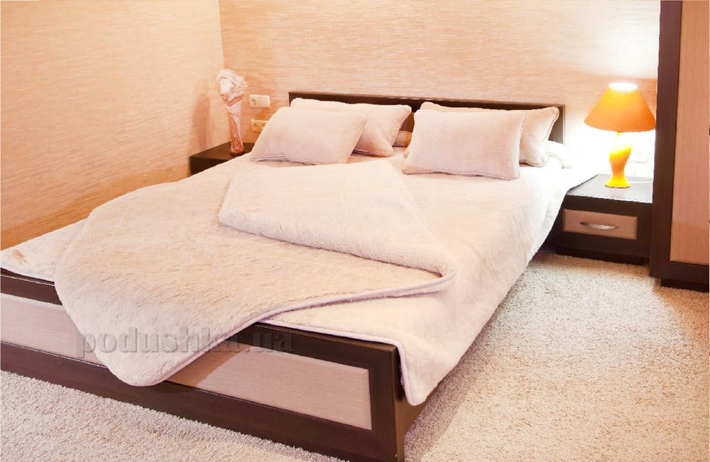 Одеяло шерсть и хлопок Lux Prestige Lama 155х200 см  Lux Prestige