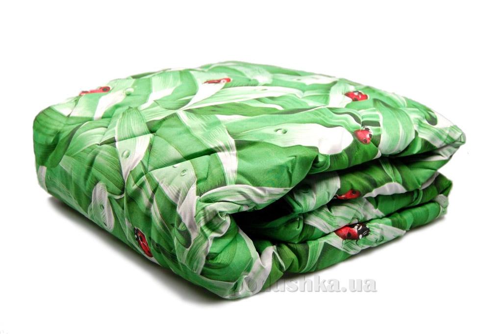 Одеяло шерстяное Home line зимнее зелёное