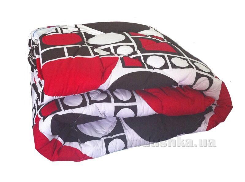 Одеяло шерстяное ТЕП 531 Круг черно-красный