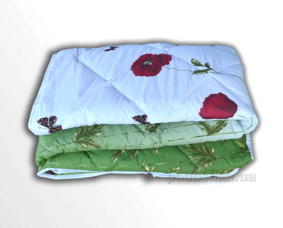 Одеяло шерстяное ТЕП 533 Маки зеленые с бабочками