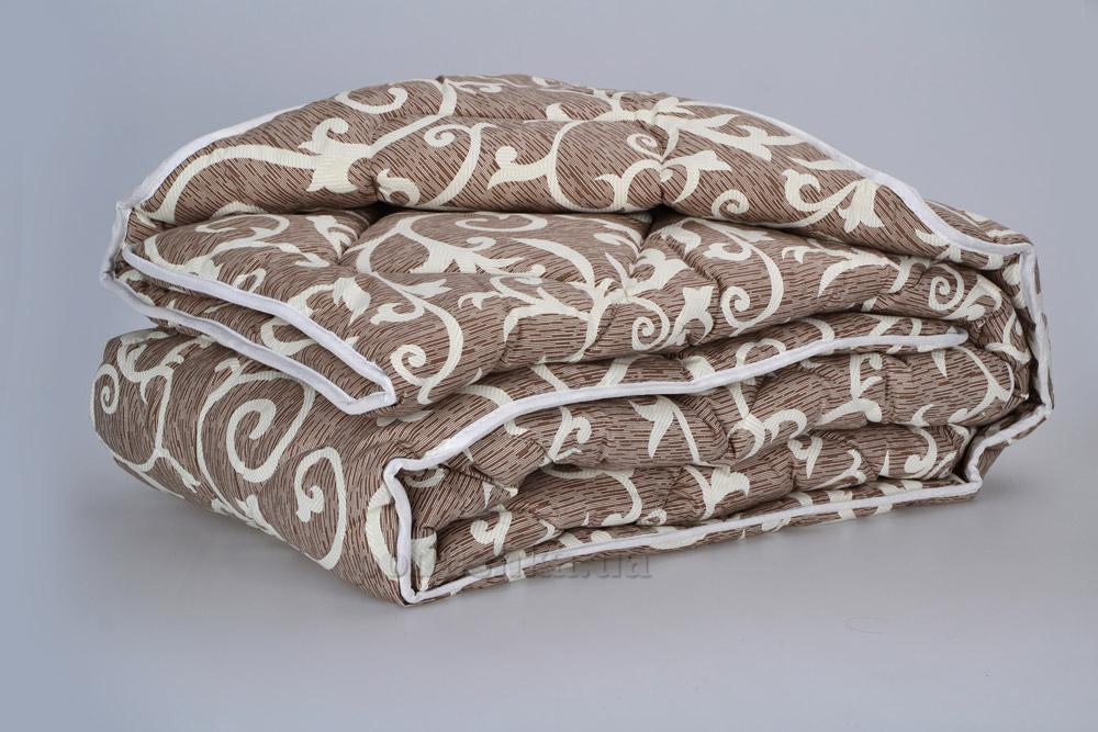 Одеяло Шерстяное ТМ Міцний сон Вензеля шоколад