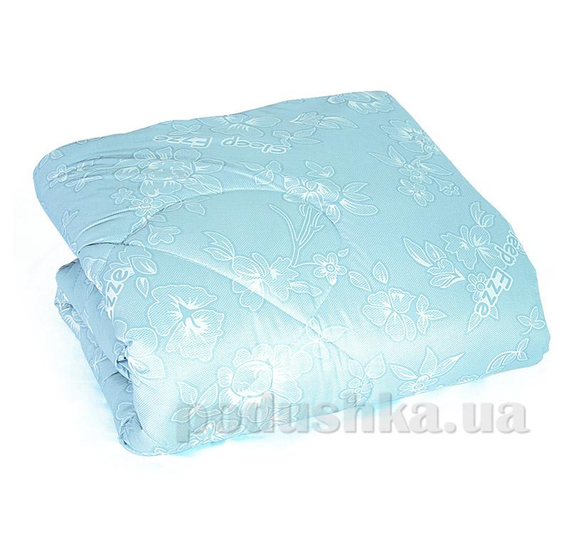 Одеяло стеганное Ярослав cиликонполикоттон голубое