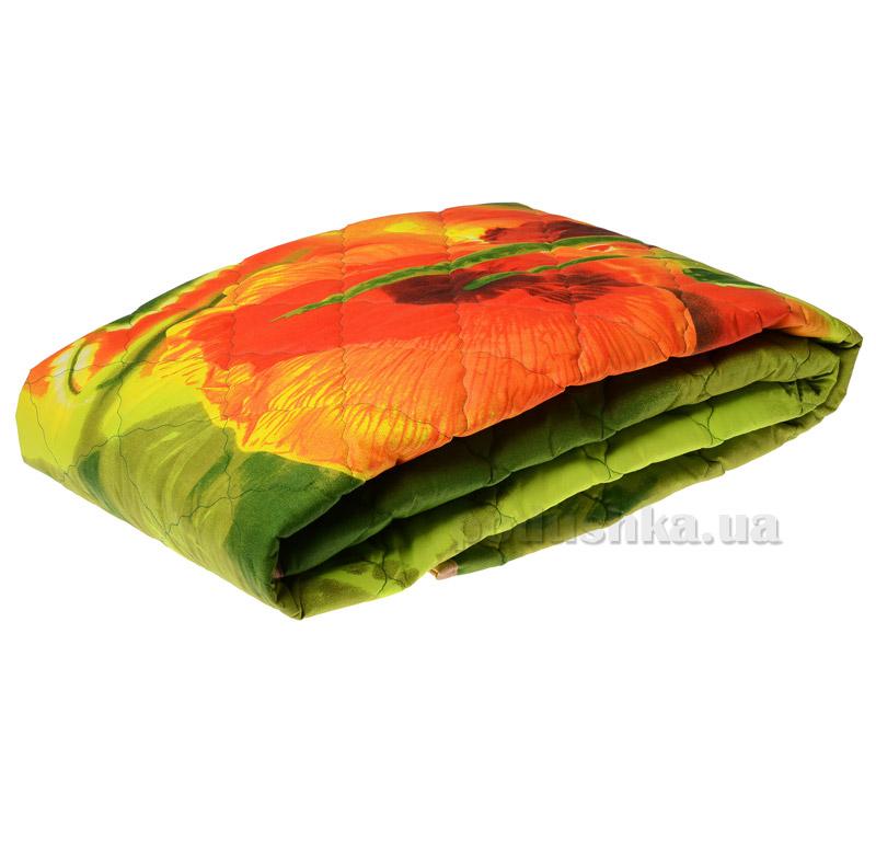 Одеяло стеганое легкое Zastelli Маки