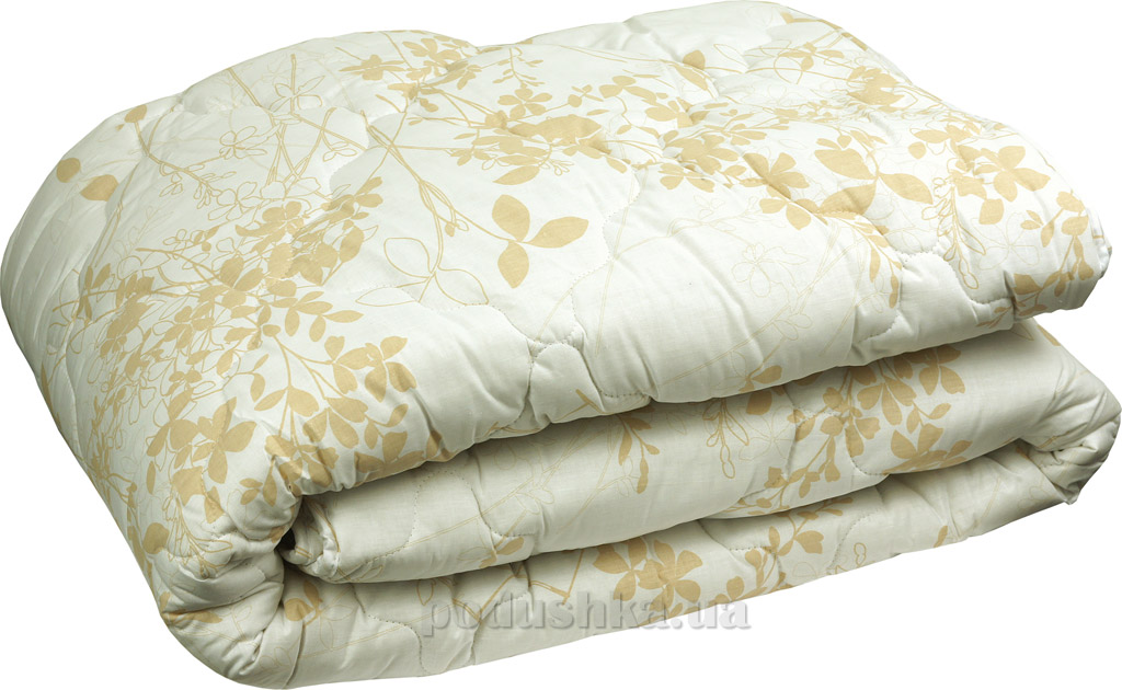 Одеяло зимнее шерстяное Руно в бязи бежевое 200х220 см  Руно