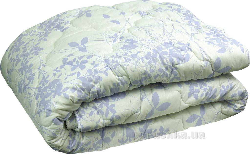 Одеяло зимнее шерстяное Руно в бязи сиреневое 140х205 см  Руно