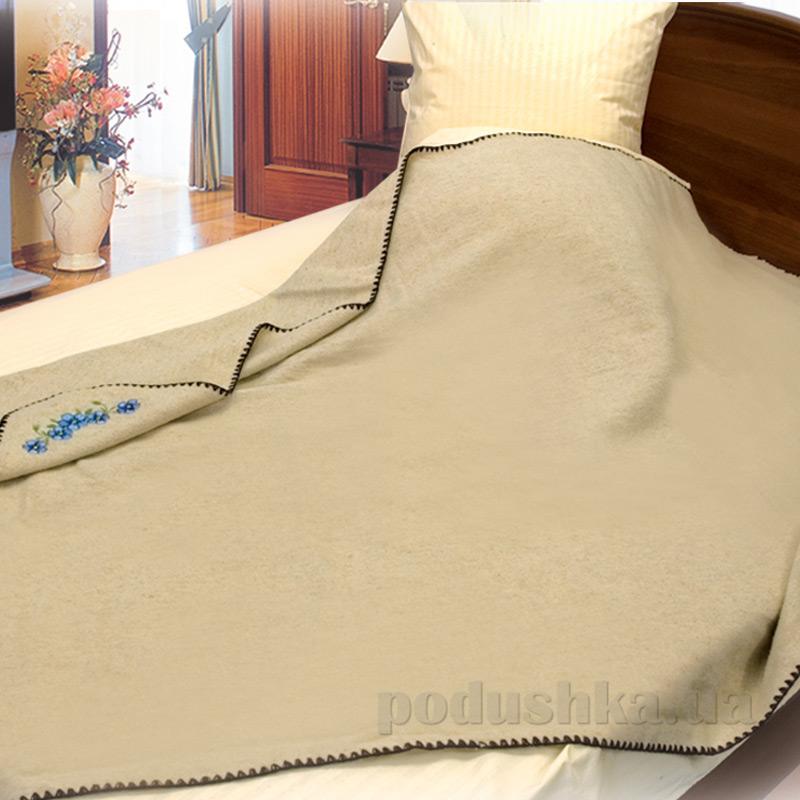 Одеяло-плед шерсть-лен с вышивкой Ярослав