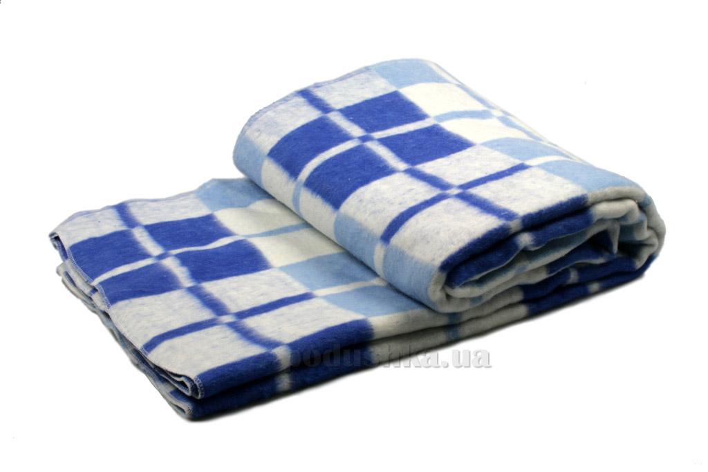 Одеяло-плед байка Vladi Клетка голубое