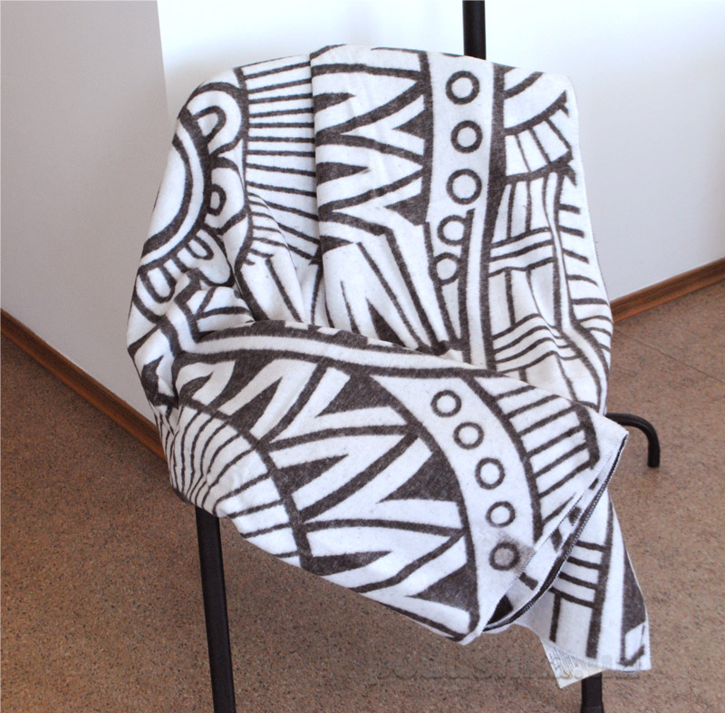 Одеяло-плед Vladi Перу бело-коричневое