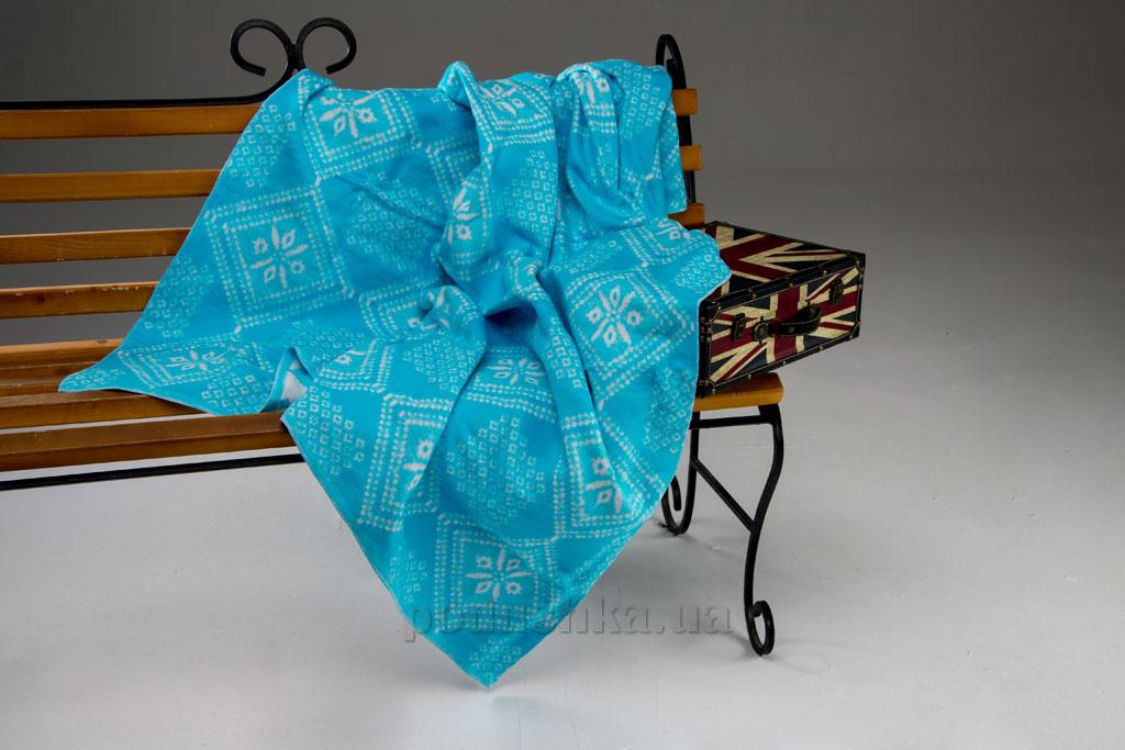 Одеяло-плед WOT Орнамент бирюза