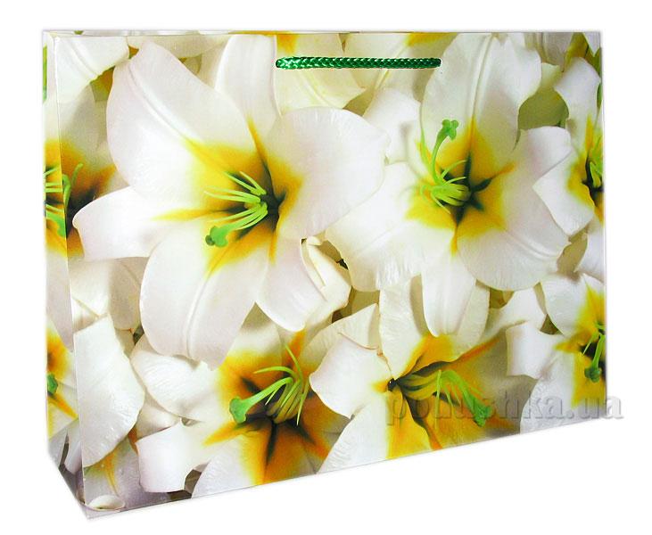Пакет подарочный Белые лилии 513