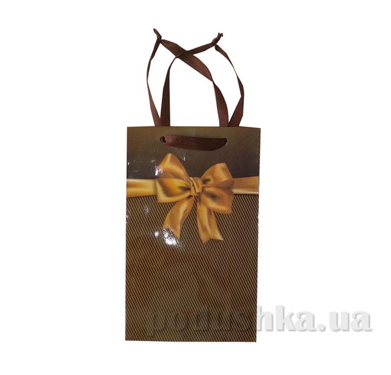 Пакет подарочный 15159 Бантик коричневый