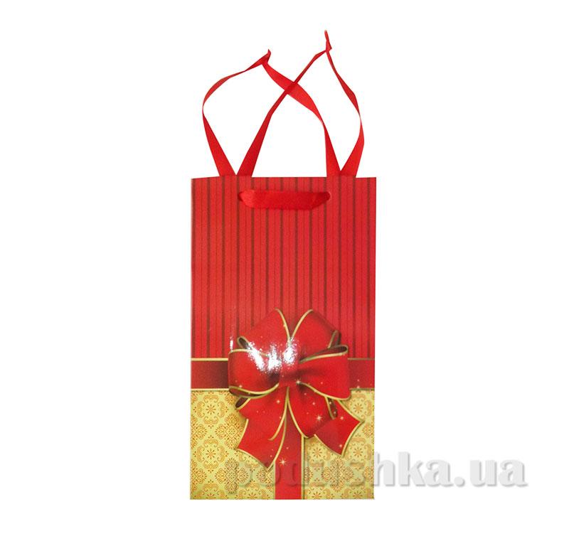 Пакет подарочный 15159 Бантик красный