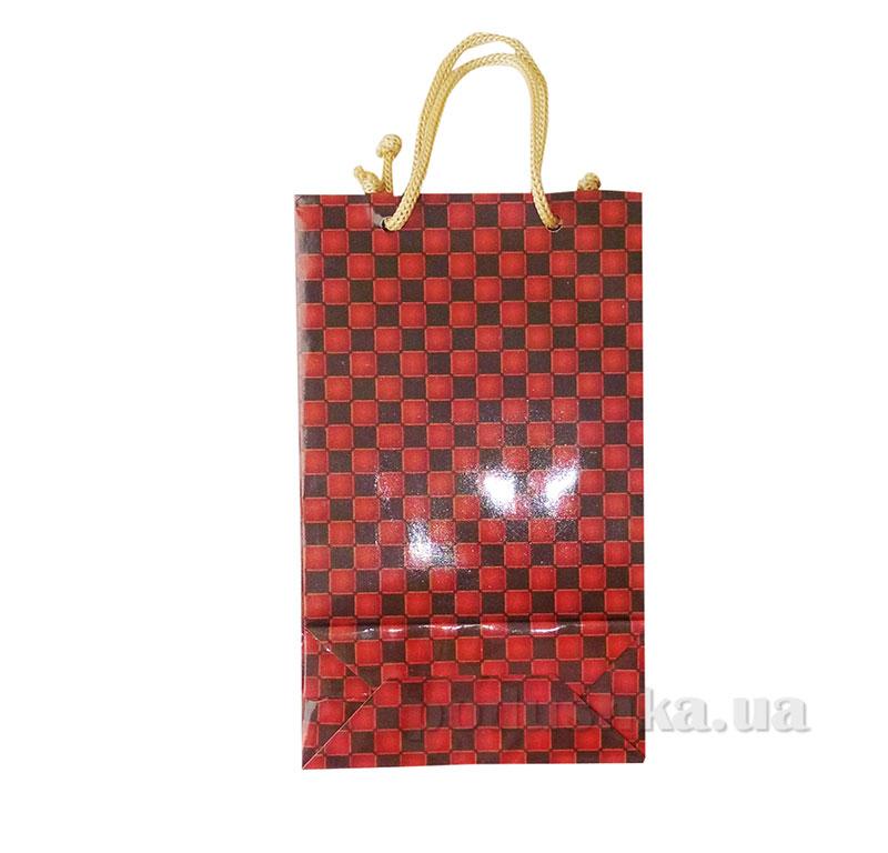 Пакет подарочный 15159 шахматная клетка
