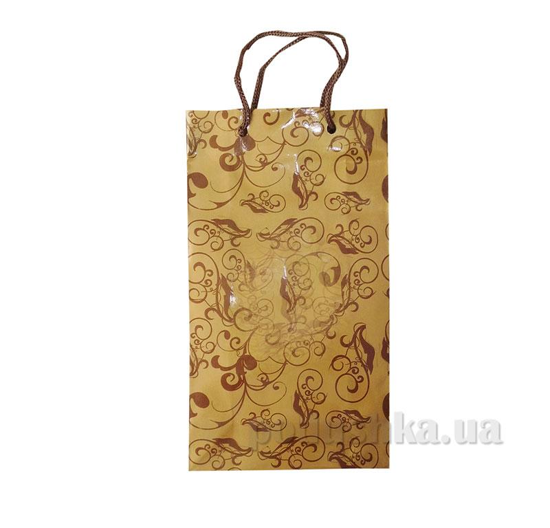 Пакет подарочный 15159 золотой узор