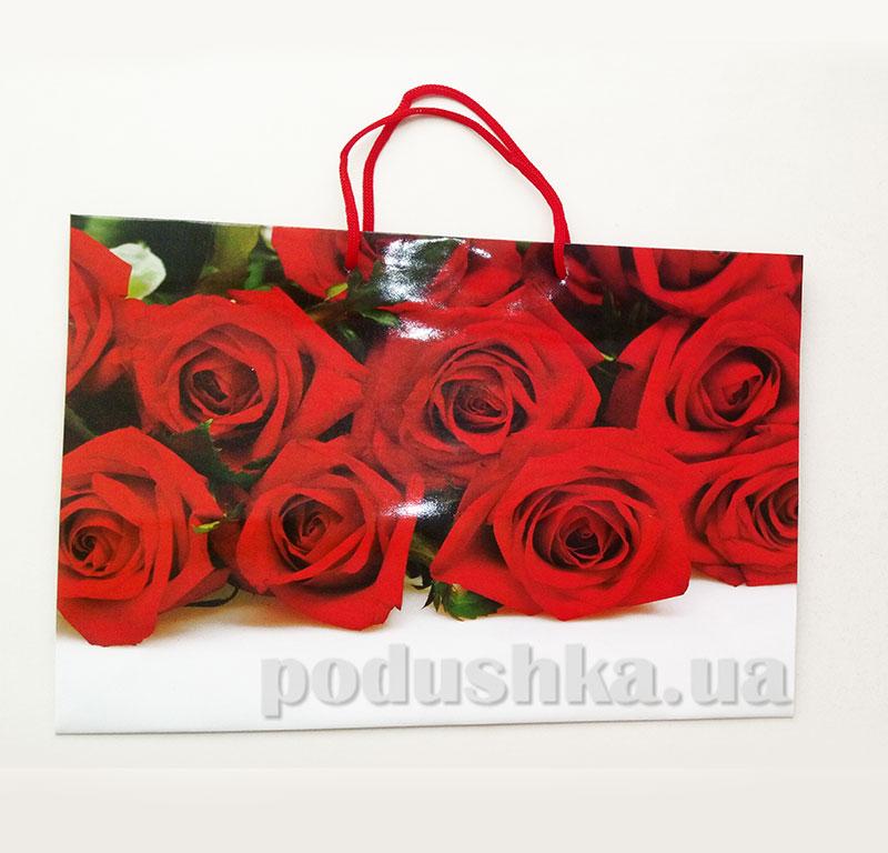 Пакет подарочный Красные Розы 12632