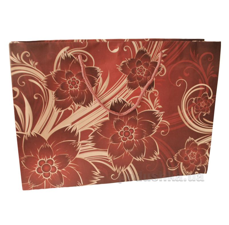 Пакет подарочный Цветы