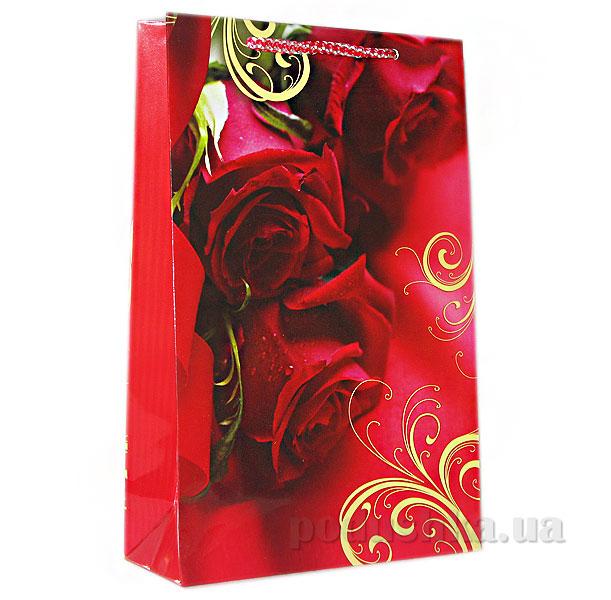 Пакет подарочный Красные розы 425