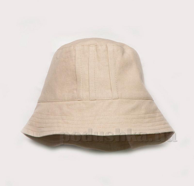 Панама для мальчика Модный карапуз 03-00504 лен бежевый