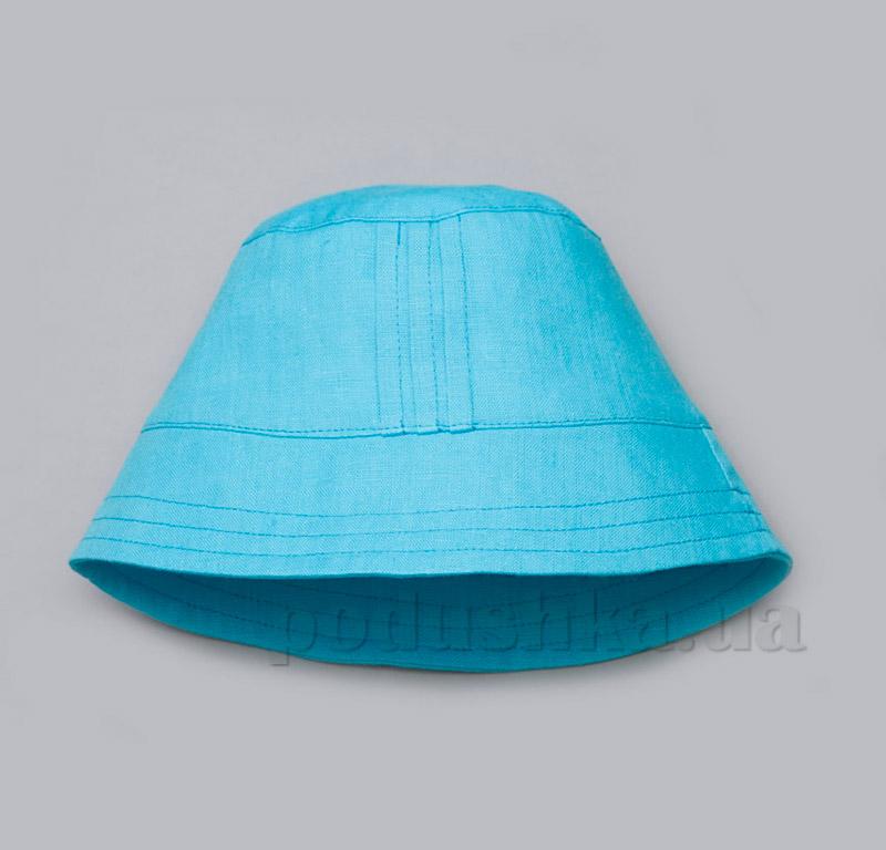 Панама для мальчика Модный карапуз 03-00504 лен голубой